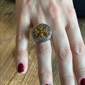 John Hardy Jewelry - John Hardy Citrine sterling and 18k gold Batu Ring
